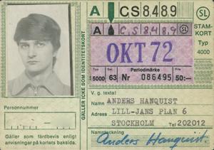Anders 50-kort från oktober 1972