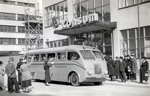 Buss utanför Konsum
