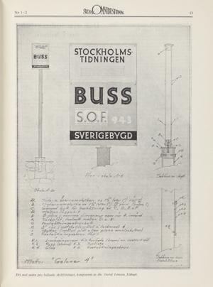 Det med andra pris belönade skyltförslaget, komponerat av dir. Gustaf Larsson, Lidingö