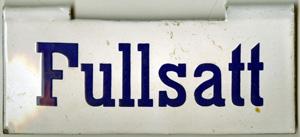 Fullsatt-skylt